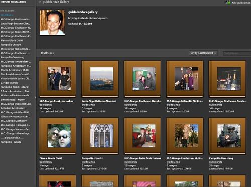 L'album fotografico online Photoshop Express