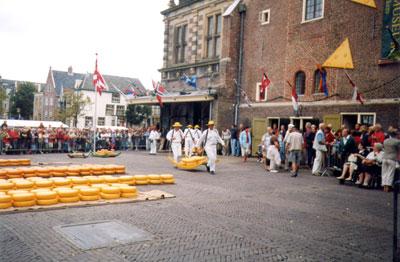 Alkmaar, Il Mercato del Formaggio, Scene
