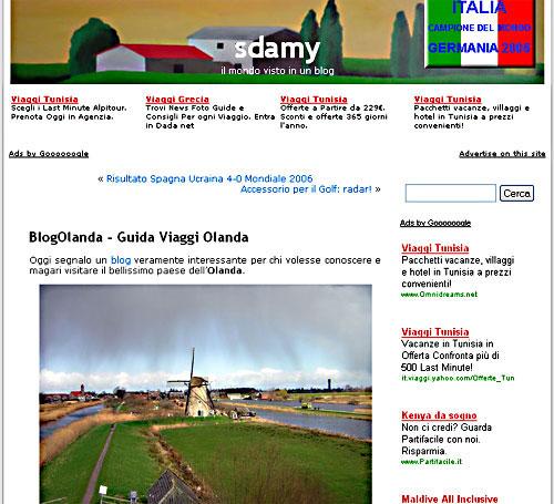 BlogOlanda segnalato da Sdamy