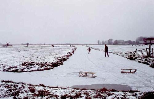 Amsterdam in Inverno, lo Slittino