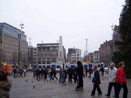 Amsterdam, Piazza Dam a Natale