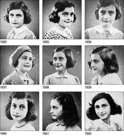 Anna Frank, la Collezione dei vari ritratti