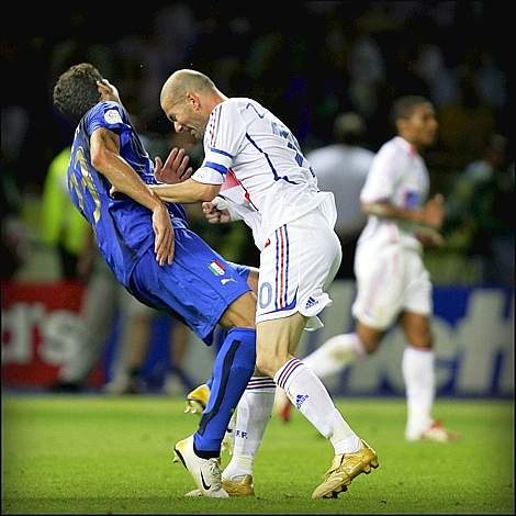 World Press Photo 2007 testata zidan e materazzi