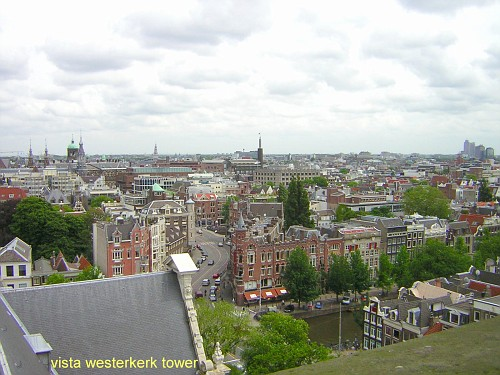 Amsterdam Westerkerk panoramica