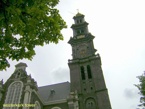 Amsterdam Westerkerk vista dal basso