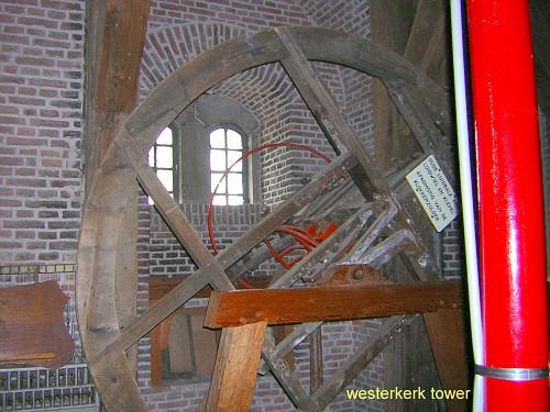 Amsterdam Westerkerk, l'interno della torre