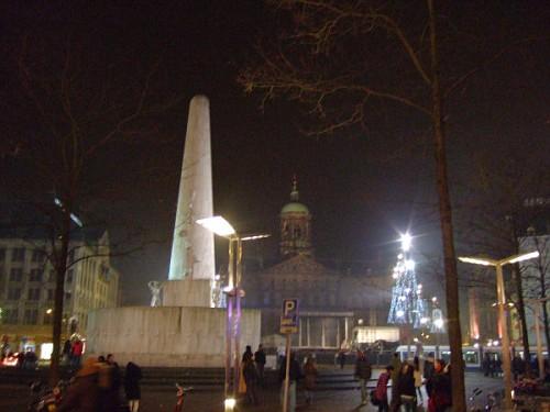 Amsterdam, Piazza Dam a Capodanno