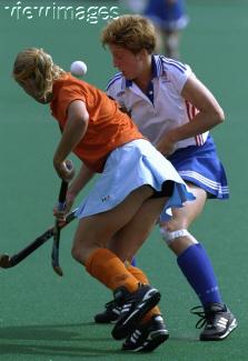 donna olandese giocatrice di Hockey sul prato