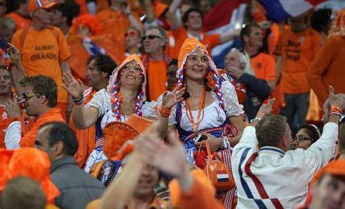 Olanda Spagna Mondiali di Calcio 2010 - Le tifose olandesi