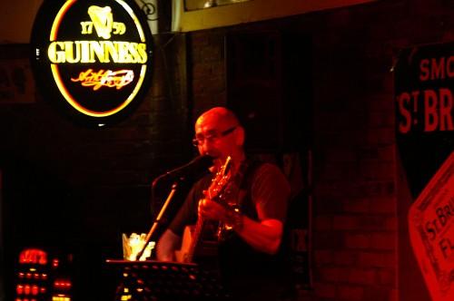 Eindhoven - Irish pub O'sheas, il musicista