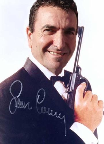 James Bond 007 gun dinner suit signed photo